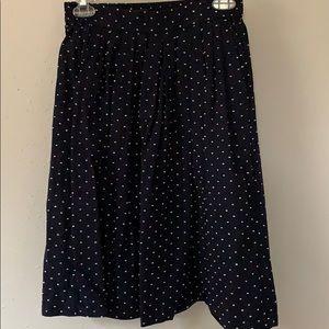 J Crew clip dot skirt